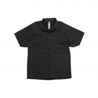 """Upcycled Aloha Shirt - """"Black Transcript"""""""