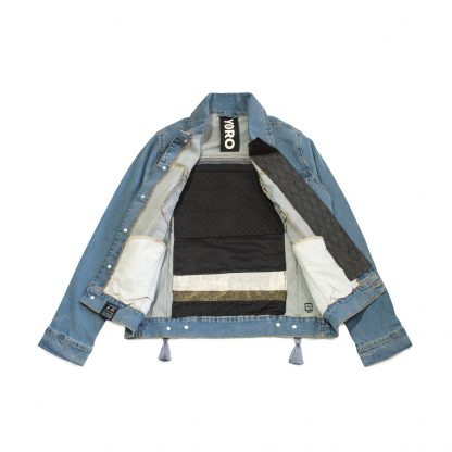 "Custom Denim Jacket - ""Black Wall"""