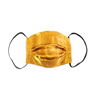 "Upcycled Face Mask - ""Golden Blossom"""