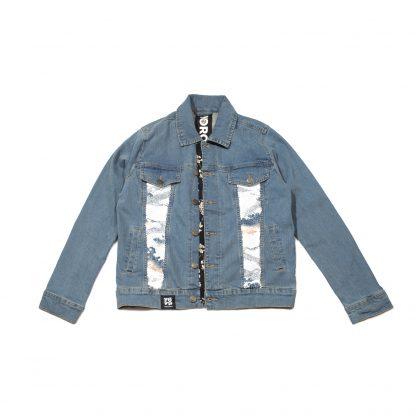 """Custom Denim Jacket - """"Sequin Sky"""""""
