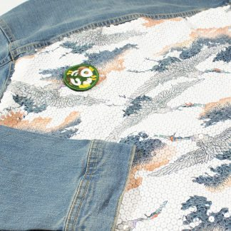 "Custom Denim Jacket - ""Sequin Sky"""