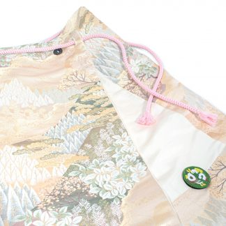 """Midi Wrap Skirt with Obi String - """"Pink Forest"""""""