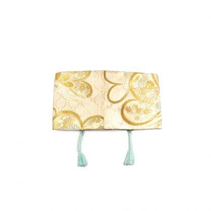"""Reversible Corset Waist Belt with Tie - """"Golden Turquoise"""""""