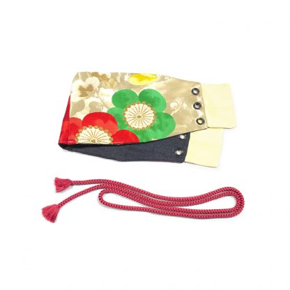 "Reversible Waist Corset Belt with Tie - ""Flower Wall"""