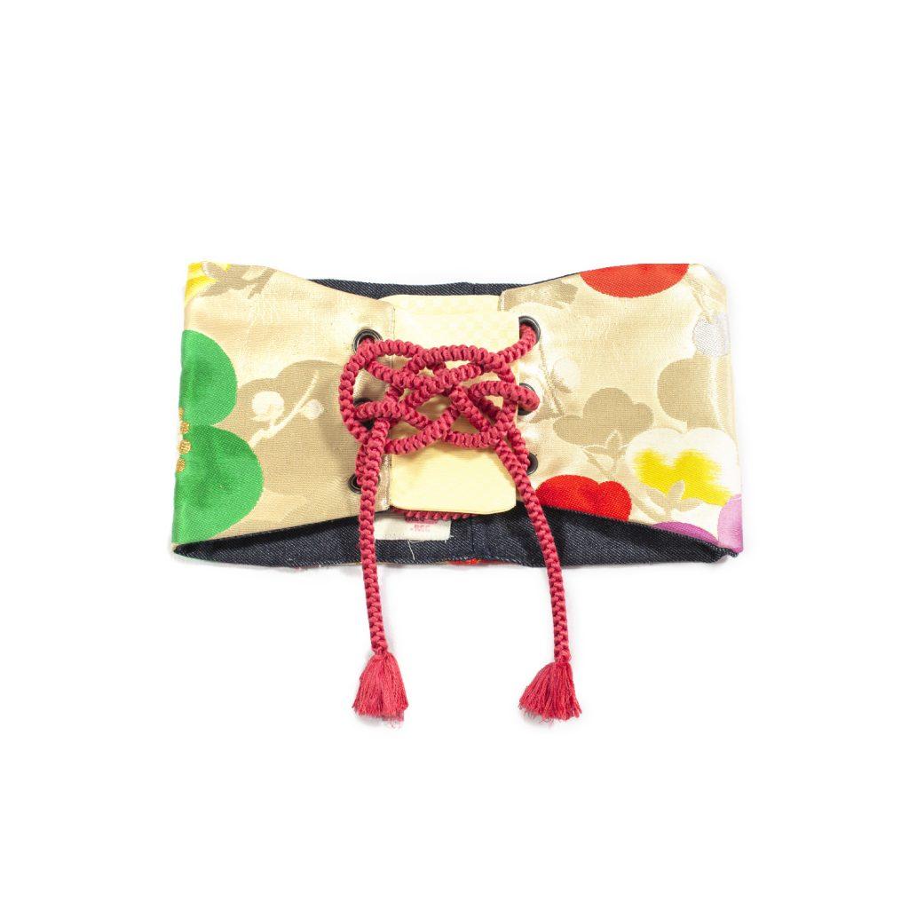 "Reversible Waist Corset Belt with Tie - ""Flower Wall"""
