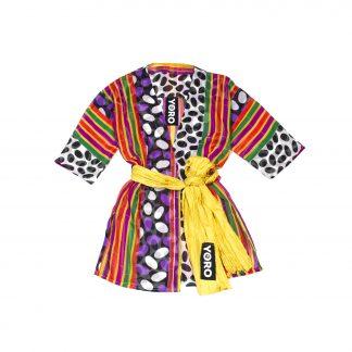"""Sheer Haori Top with Yellow Belt - """"Ten Ten Infinity"""""""