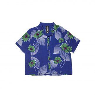"""Hawaiian Shirt - """"Blue Hana-bi"""""""