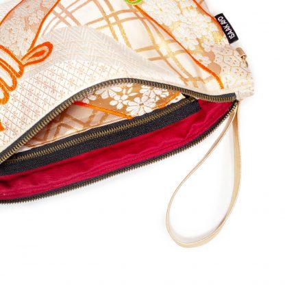 """[4649.REC x Isaak Ayo] Clutch Bag with Handle – """"Gold Katana"""""""
