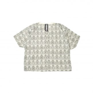 """Square V Neck Top - """"Silent Wall"""""""