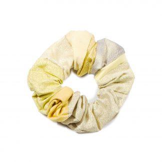 "Vintage Kimono Scrunchie - ""Gold Wall"""