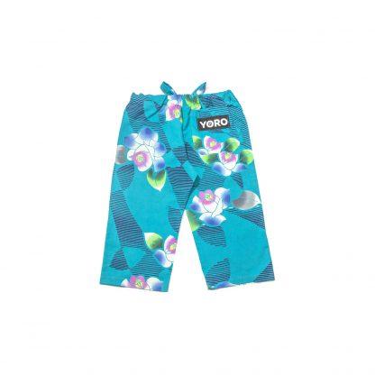 "Cotton Drawstring 3/4 Pants - ""Aquamarine Dream"""