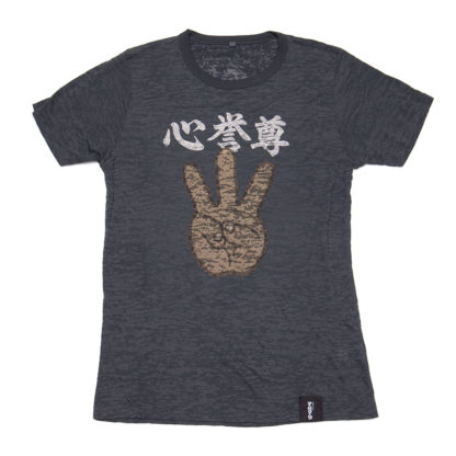 iii (Hand Sign): Burnout Effect Tees - front