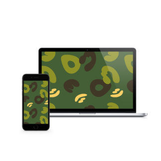 Green Camouflage Digital Wallpaper #MatchaCamo