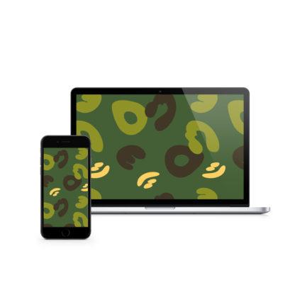 Green Camouflage Digital Wallpaper #MatchaCamo