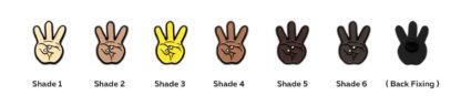 iii: Hip Hop Enamel Pins Set - all shades