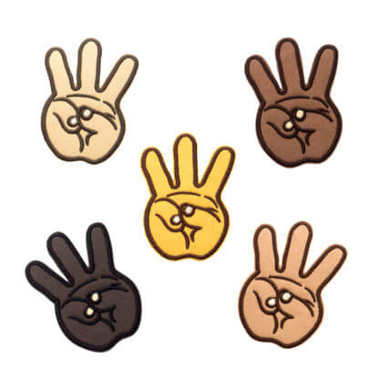Hip Hop Embroidery Patches: iii (Hand Sign) - ALL