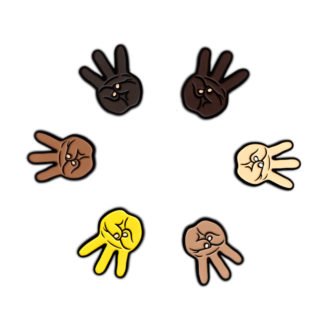 Hip Hop Enamel Pins Set: iii (Hand Sign) - ALL