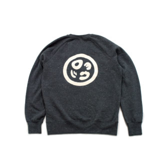 Organic Speckled Black Sweatshirt Jumper (Panda Crest) - back