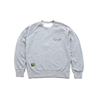 Organic Speckled Grey Sweatshirt Jumper (Panda Crest) - front