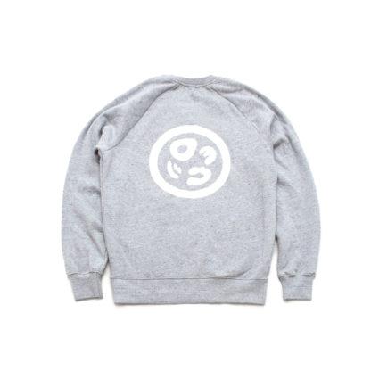 Organic Speckled Grey Sweatshirt Jumper (Panda Crest) - back