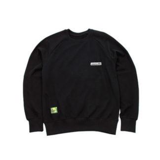 Black Sweatshirt Organic Jumper (Panda Crest) - front