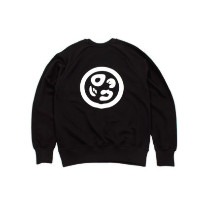 Black Sweatshirt Organic Jumper (Panda Crest) - back