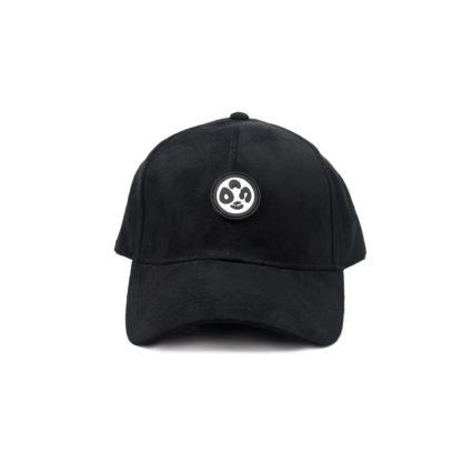 Vegan Suede Logo Cap (Black) - front