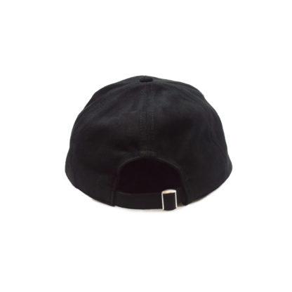 Vegan Suede Logo Cap (Black) - back