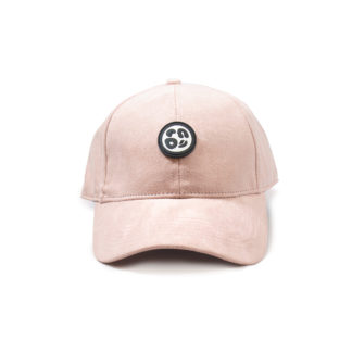 Vegan Suede Logo Cap (Sakura Pink) - front