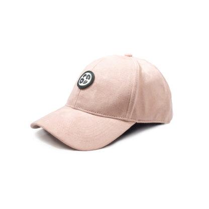 Vegan Suede Logo Cap (Sakura Pink) - side