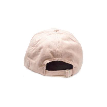 Vegan Suede Logo Cap (Sakura Pink) - back