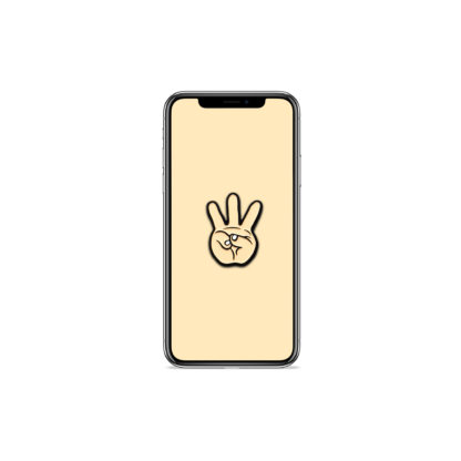 iii (Hand Sign): Hip Hop Digital Wallpapers - Phone 1