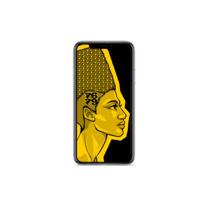 Egyptian Queens: Artwork Digital Wallpapers - Phone Black
