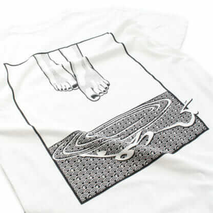 Levitate (Feet): Graphic White Tee - backprint