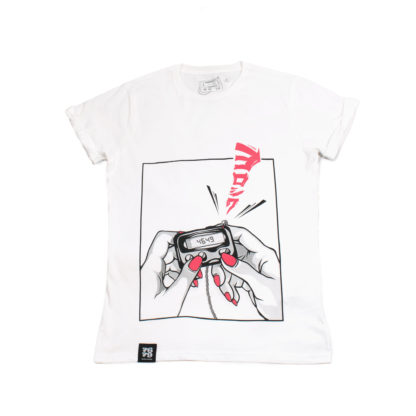 Pager: Japanese Cartoon Organic White Tee - front