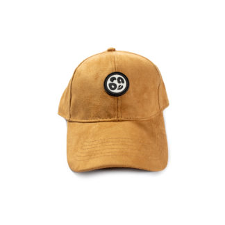 Vegan Suede Logo Cap (Honey Brown) - front