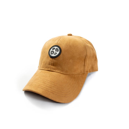 Vegan Suede Logo Cap (Honey Brown) - angle