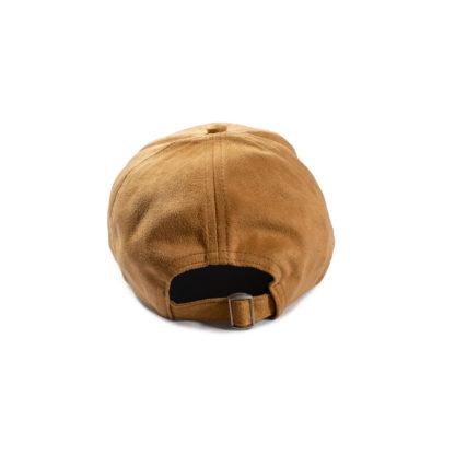 Vegan Suede Logo Cap (Honey Brown) - back