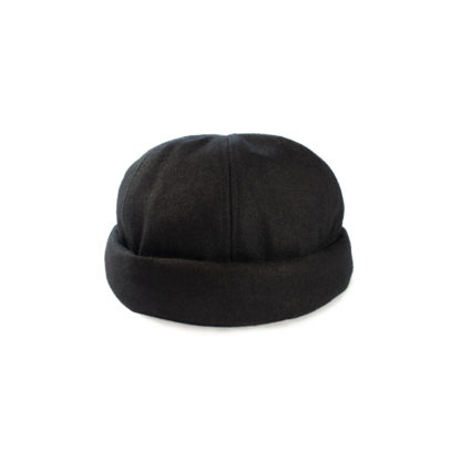 Wool Docker Hat (Black) - front