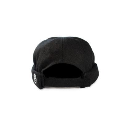 Wool Docker Hat (Black) - back