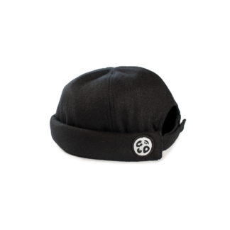 Wool Docker Hat (Black) - side