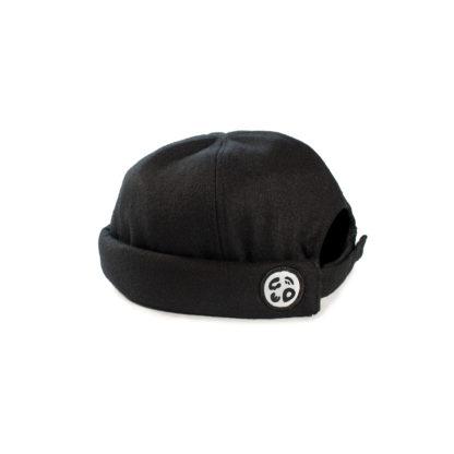 Wool Docker Hat (Black) - side