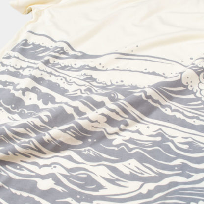 Mother Sea: Japanese Graphic Sand Tee - artwork detail