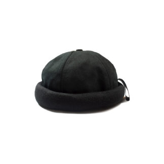 Cotton Docker Cap (Black) - front
