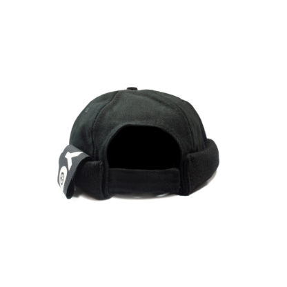 Cotton Docker Cap (Black) - back
