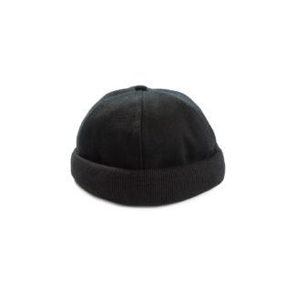 Cotton Docker Cap (Black) - front