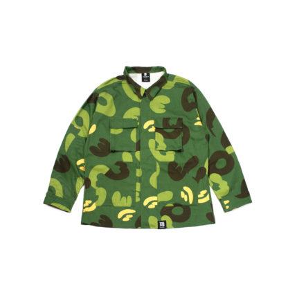 Green Camo Army Jacket #JungleCamo - front