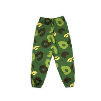 Green Camo Cotton Joggers #JungleCamo - front