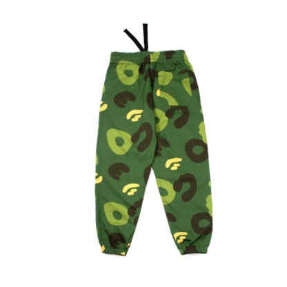 Green Camo Cotton Joggers #JungleCamo - drawstring