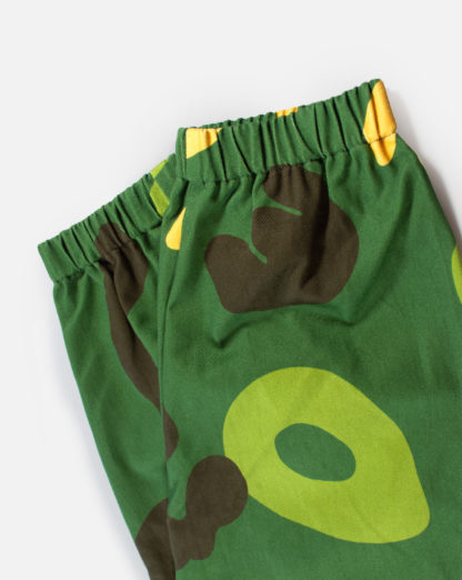Green Camo Cotton Joggers #JungleCamo - feet